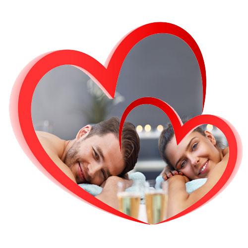 Pacchetto benessere romantico 2 cuori e 1 spa
