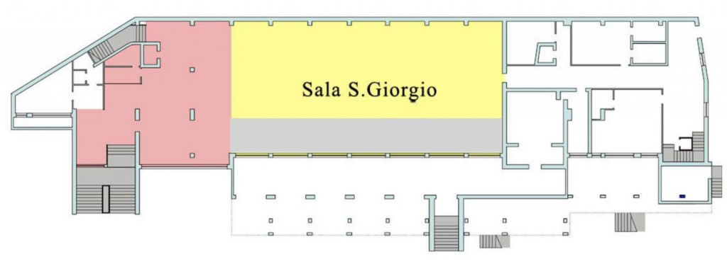 Planimetria sala San Giorgio