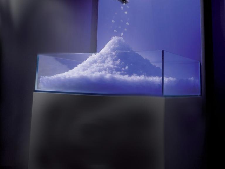 Frigidarium, cascata di ghiaccio