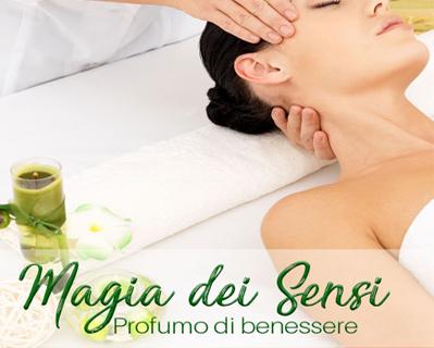 Magia dei sensi pacchetto benessere con massaggio aromaterapico