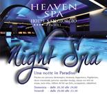 Apertura di sera del centro benessere Heaven Spa